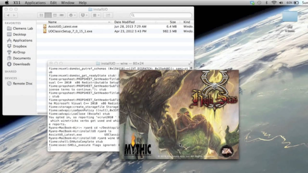 How to Install Ultima Online UO on Mac OSX 10 8 – MyPHPtutes