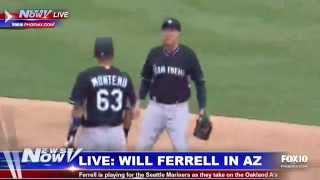 Fnn: Will Ferrell Plays For Seattle Mariners During Spring Training