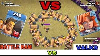 new troop battle ram vs 1 max valkrie   who will win must watch
