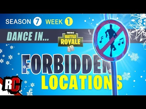 Fortnite | All Forbidden Locations WEEK 1 Dance In Forbidden Locations (Season 7 Challenge)