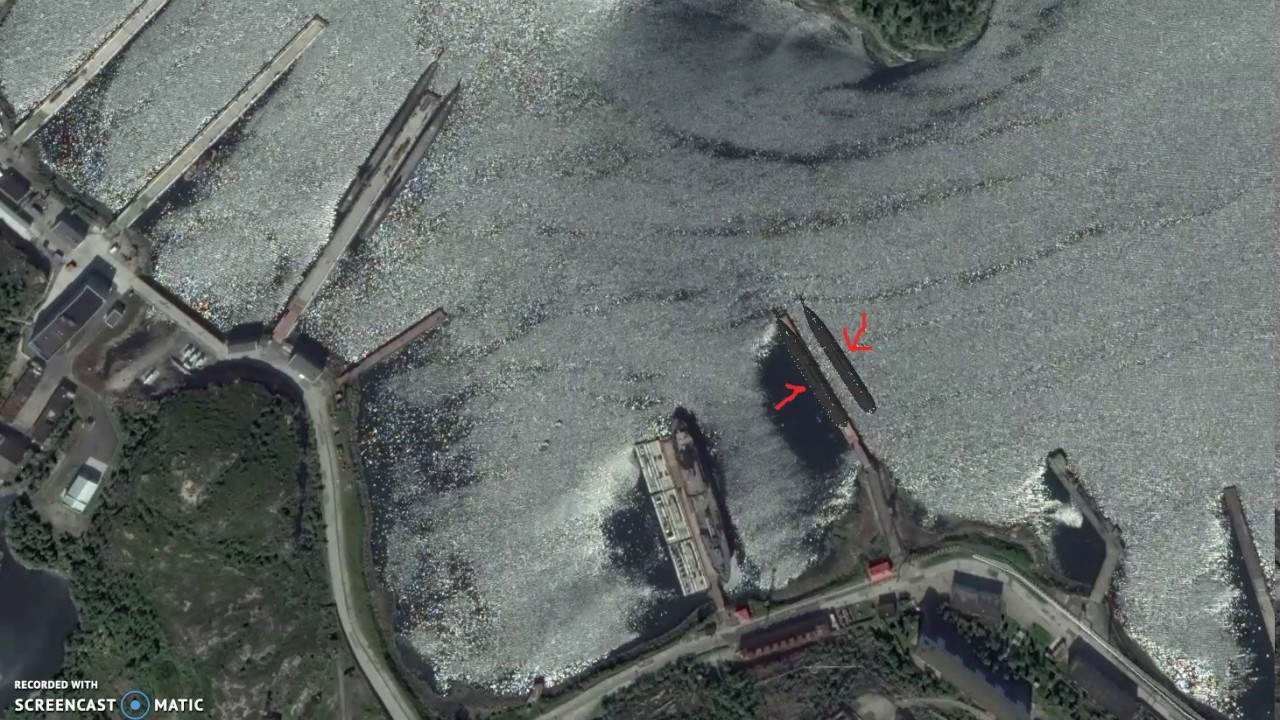Russian Submarines on Google Earth