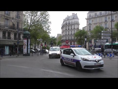 Paris, Police en urgence ( Compilation ) Police cars Responding ( Compilation ) Paris