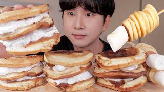 팬케이크 사이에 생크림 듬뿍 디저트 먹방!! Panca…