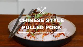 Chinese Style Pulled Pork - Grilled on the Weber Pulse 2000