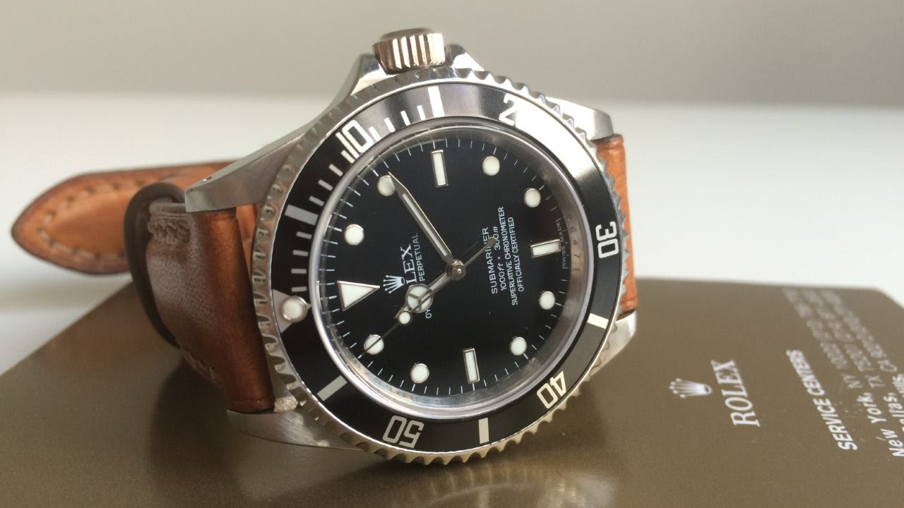 Rolex Submariner 14060m Z Series Leather Strap Youtube