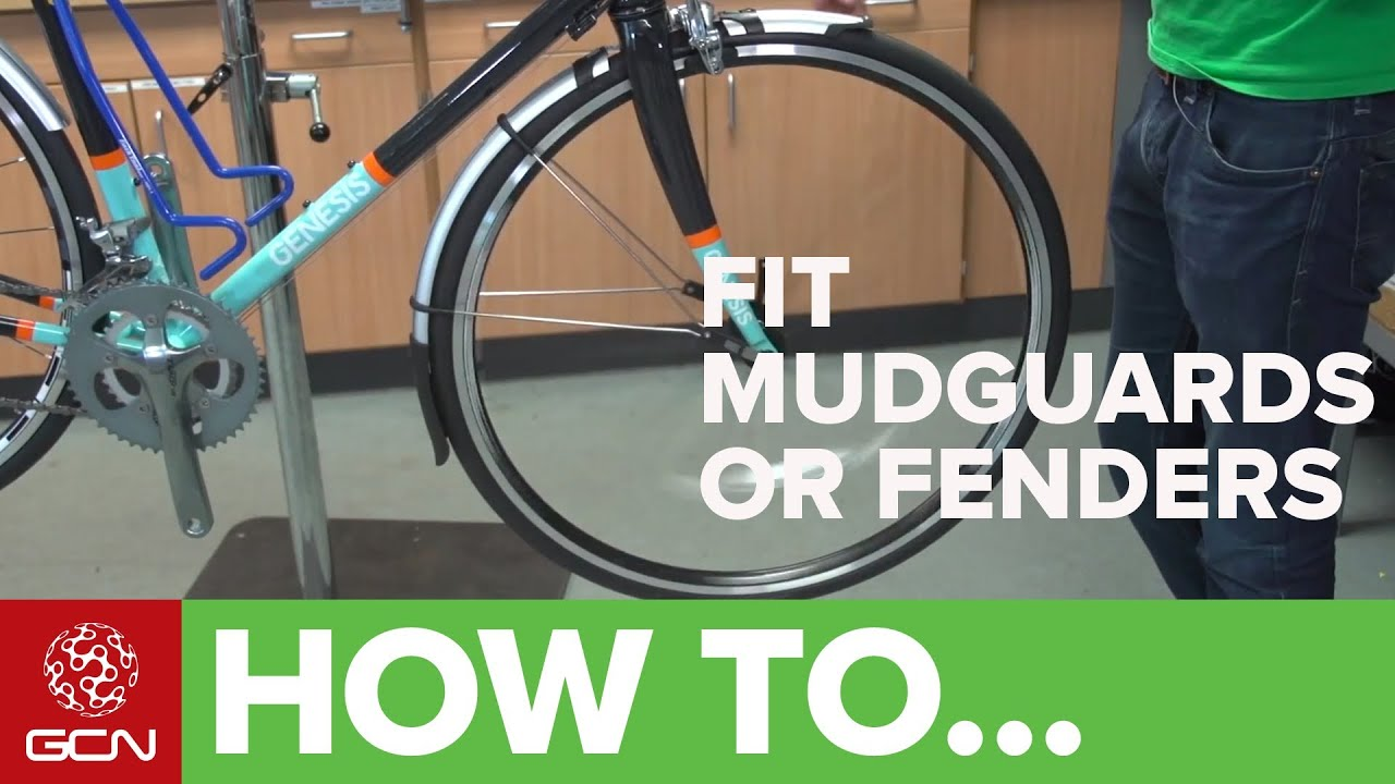 How To Fit Road Bike Mudguards Or Fenders Sks Race Blades Full Pato Fx 2 Black