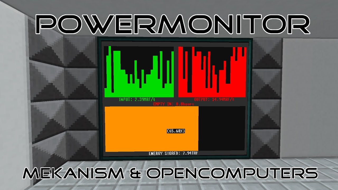 PowerMonitor | OpenComputers & Mekanism by BrainGamer