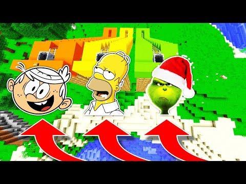 NE DESCENDEZ PAS DANS LES MAUVAISES MONTAGNES RUSSES MINECRAFT !! Loud Homer Le Grinch !