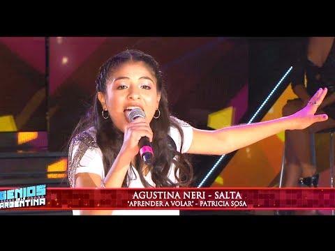 """Agustina Neri de Salta la rompió cantando """"Aprender a volar"""" de Patricia Sosa"""