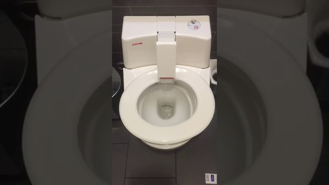Amazing Transforming Self Cleaning Toilet Seat In German Mall - Japanese self cleaning toilet
