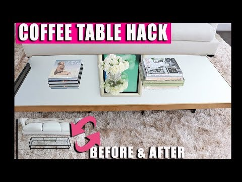 Living Room Decorating Ideas - Coffee Table HACK