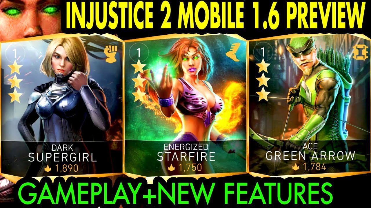 Injustice 2 Mobile 1 6 Update Gameplay + Review  New Characters, Leagues,  Arena Changes and MORE!