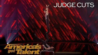 Fratelli Rossi: Brothers Try Dangerous Blindfolded Flips For First Time - America's Got Talent 2018