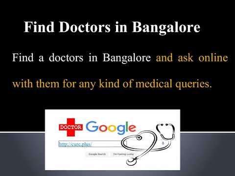find online doctors in bangalore