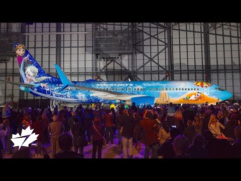 Unveiling the Disney Frozen-themed Plane | WestJet