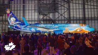 Unveiling the Disney Frozen-themed Plane | WestJet