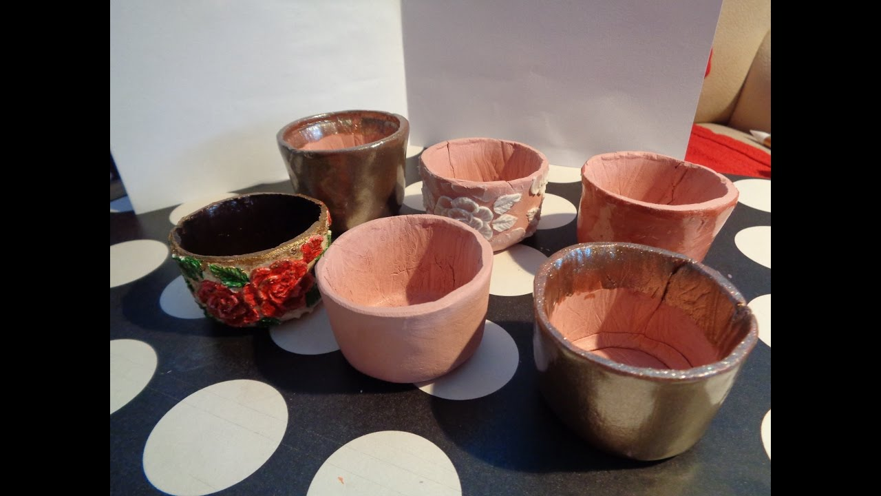 How To Make Pots From Terracotta Air Dry Clay Not Actual Flower