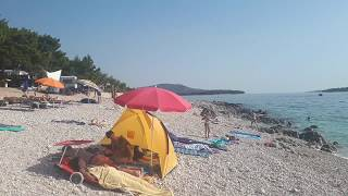 STRANDLAP Adriatic Camping strandja. Primošten. Horvátország.