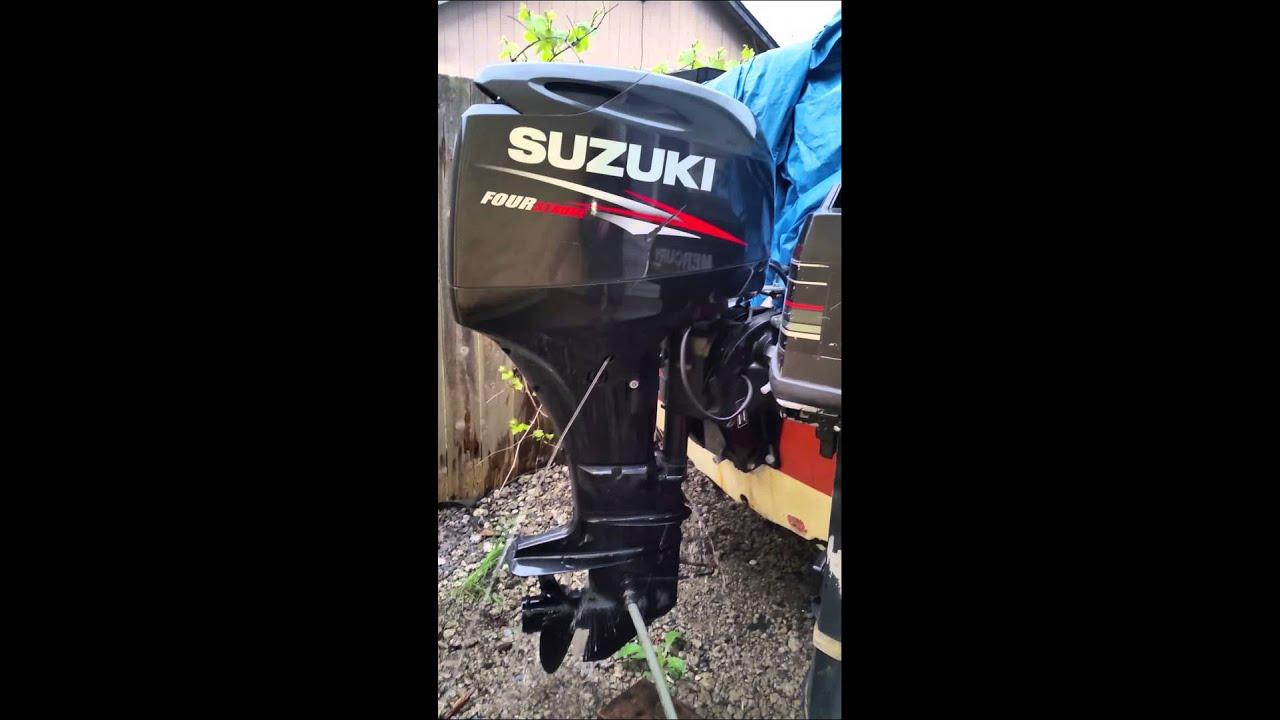 suzuki 60 hp idling - youtube