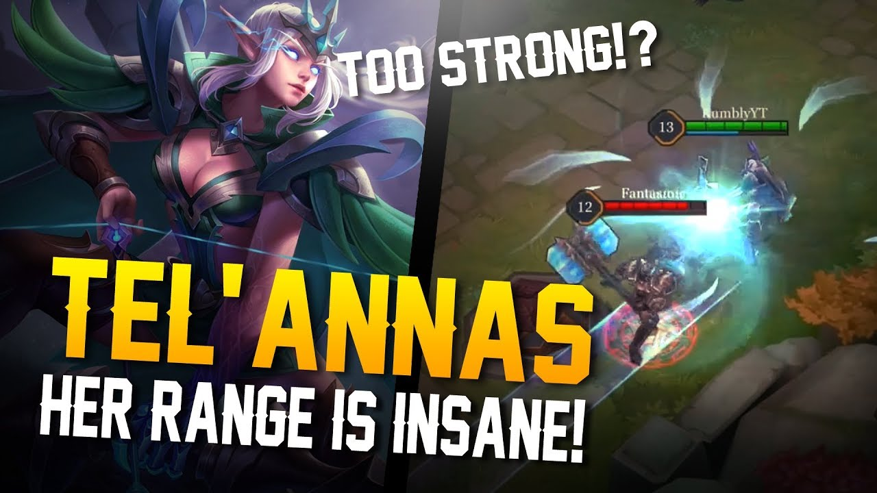 Arena Of Valor Gameplay Her Range Is Insane Telannas Gameplay