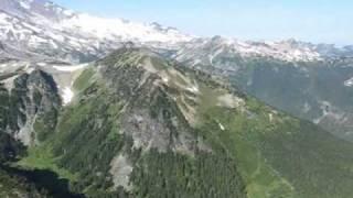Hiking Sunrise on Mount Rainier National Park