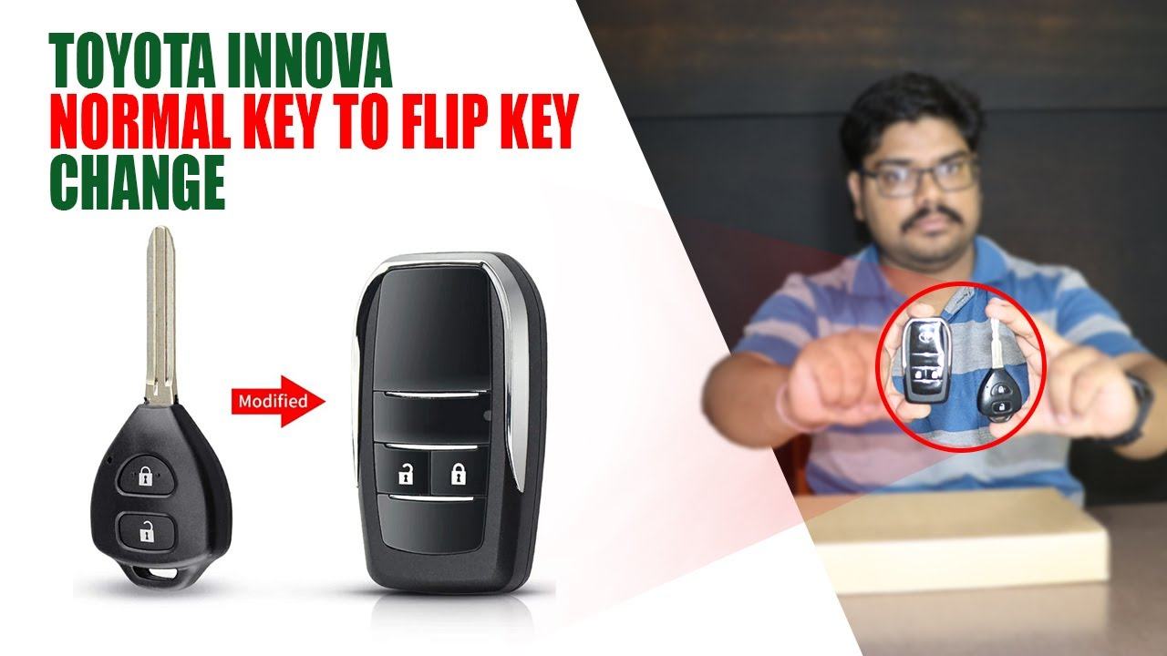 Toyota Innova Normal Remote Key to Flip Remote Key | Innova Flip Keys Replacement | HashTag India