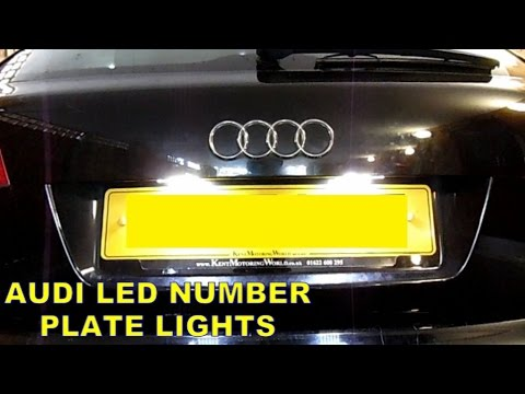 Audi Number Plate LED Lights Install - YouTube