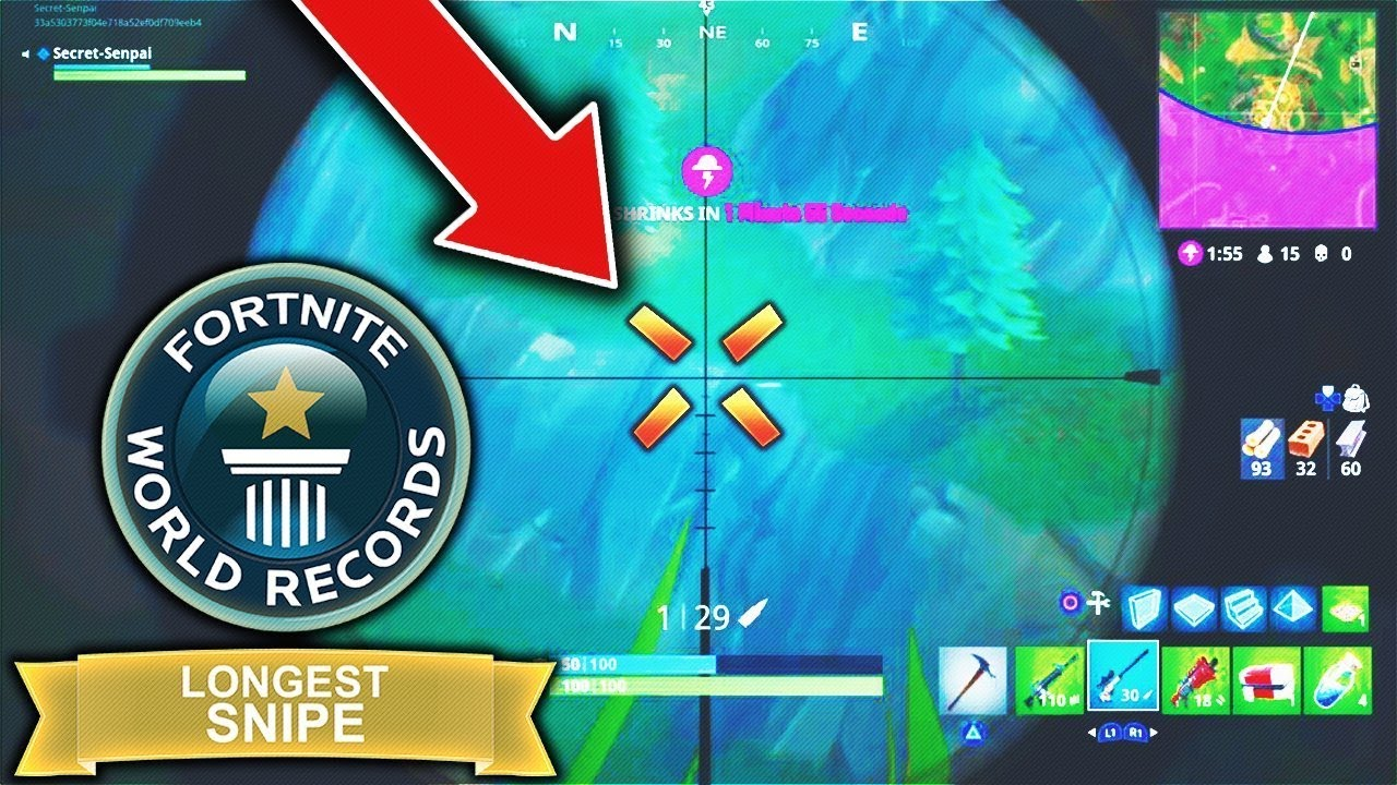 New longest snipe record in fortnite battle royale worlds new longest snipe record in fortnite battle royale worlds longest sniper shot gumiabroncs Choice Image