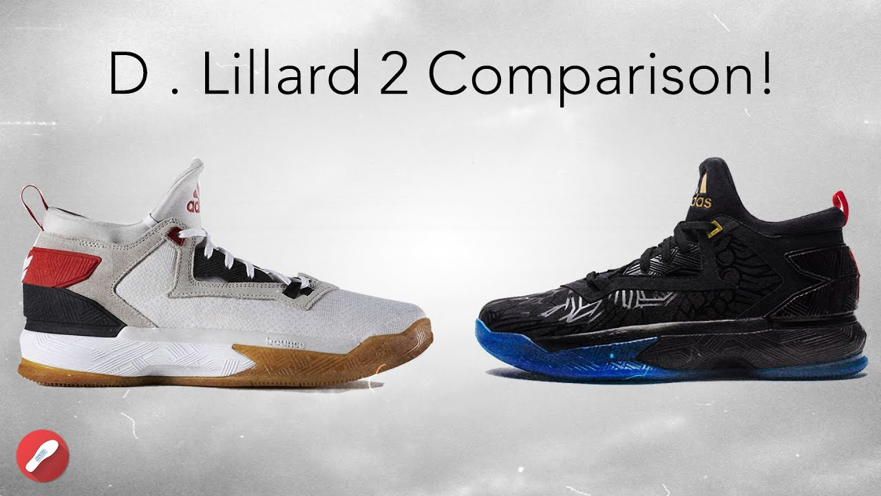 Adidas D. Lillard 2 Different Material Comparison! - YouTube d89e930aaf