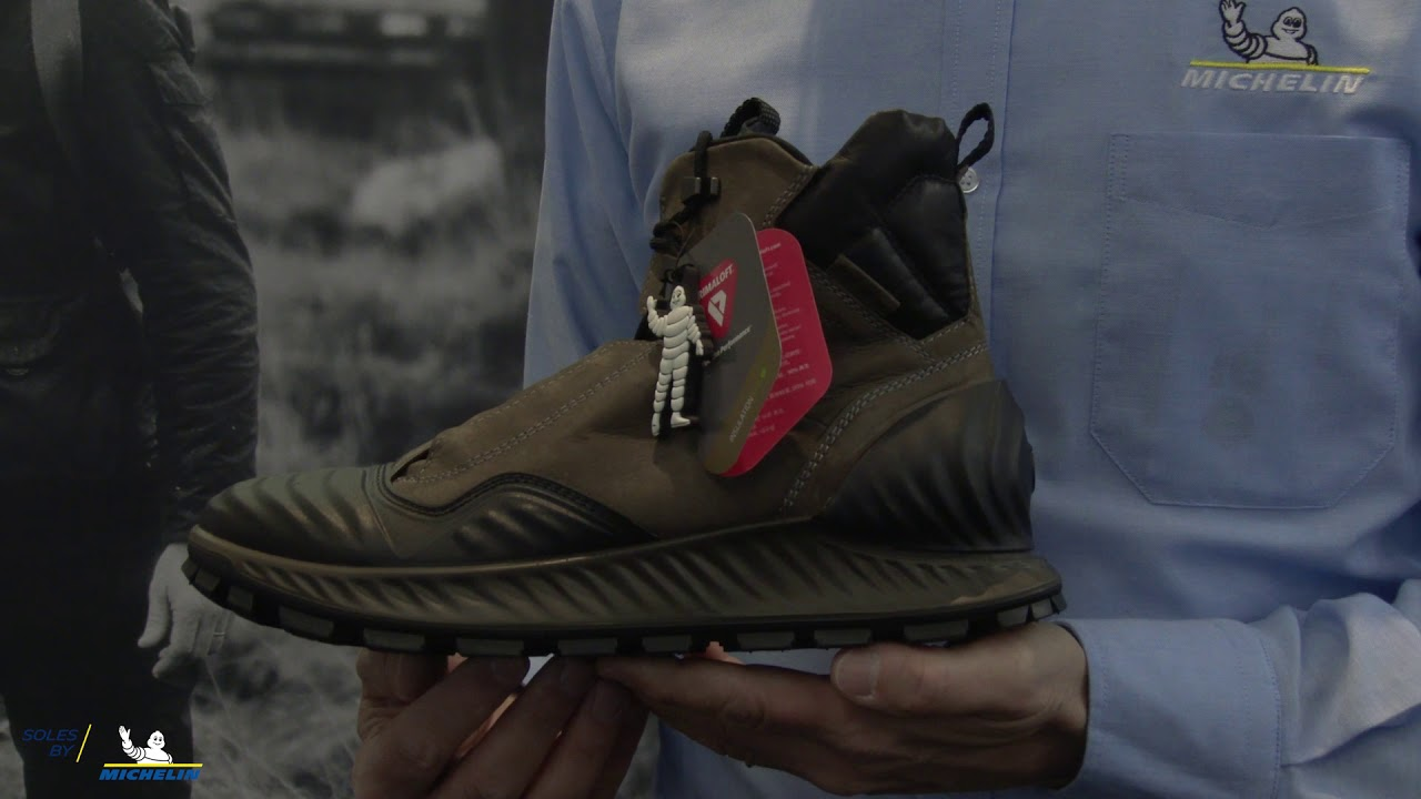 Ecco Exostrike Equipped With Michelin Soles At Ispo 2019 Youtube