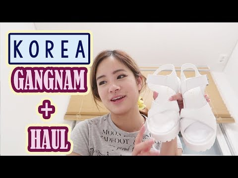 Shopping at Gangnam Station + Haul | Learning about my skin