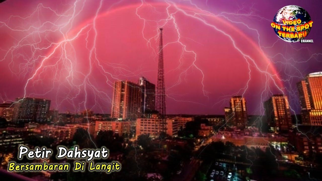Fenomena Lingkaran Merah Seperti Kubah Seolah Menutupi Kota, Seketika Keadaan Menjadi Mencekam..!!