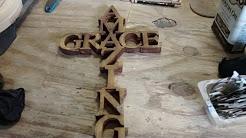 """""""Amazing grace"""" wooden cross"""