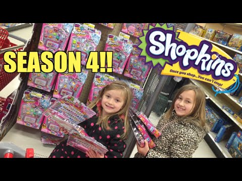 SHOPKINS SEASON 4 Target Toy Hunt MOTHERLOAD! Daddy (Grim) BUYS us 12pks and 5pks!