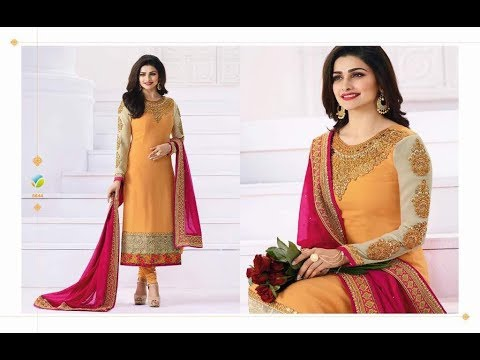 Modern New Arrivals Fashionable Women Long Straight Cut Salwar Suits