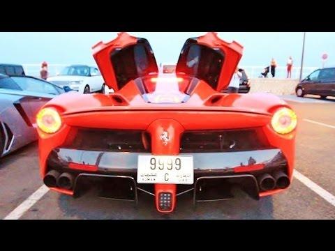 ferrari laferrari loud cold start up and driving sound! - youtube