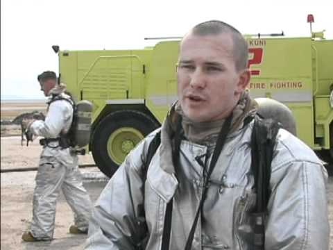 Marine firefighters put out flames - YouTube