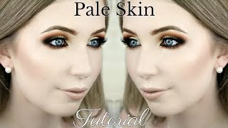Warm Toned Fall Makeup Tutorial for Pale Skin | 'Pumpkin Spice Latte'