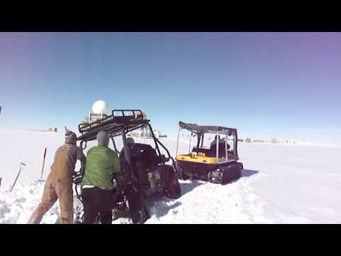 Stuck in the Snow at Summit camp, Greenland