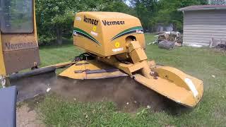 Vermeer SC60TX Stump Grinder in Action