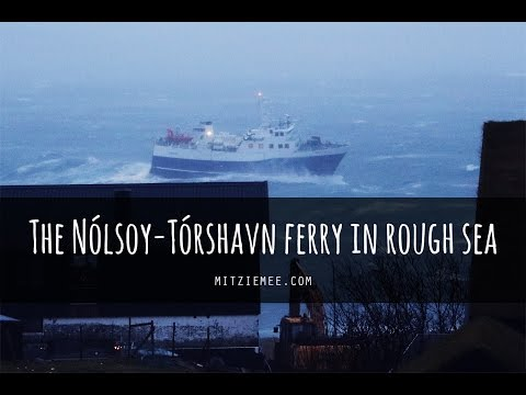 The Tórshavn-Nólsoy ferry in rough sea