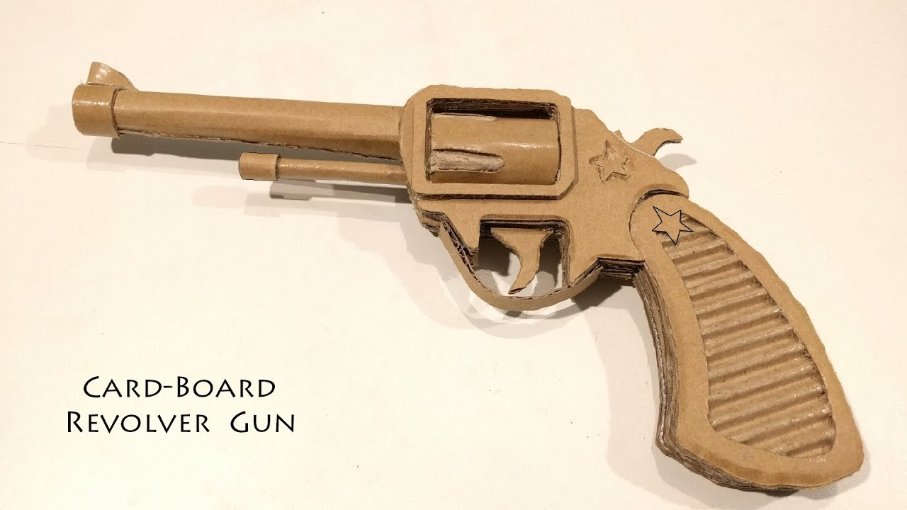 How To Make A Cardboard Gun Revolver Double Action Youtube Origami Sword Diagrams This Is The We In