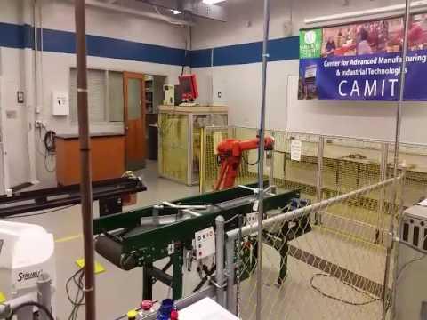 Mechatronics student writes Robotic program at Spartanburg Community College