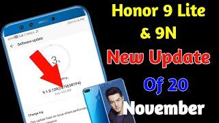 Honor 9 Lite New Update Of 20 November || Honor 9 Lite New SoftWare Update || Hindi