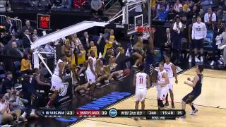 West Virginia vs. Maryland: Devin Williams dunk