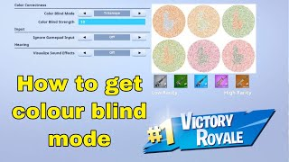 How to get Fortnite colour blind mode on ANY IOS device