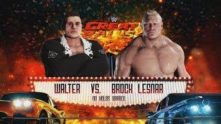 WWE 2K18 - WALTER vs. Brock Lesnar Stiff War