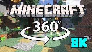 Minecraft [VR] 360° 8K 60 Fps (+Seus Shader) - Stand Alone Village thumbnail