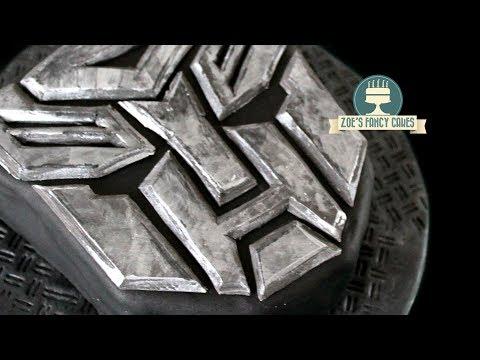 Transformers cake tutorial Autobots logo