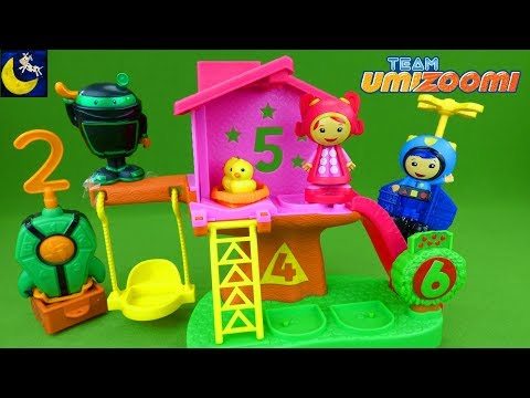 Team Umizoomi Toys Milli Mighty Matching Treehouse Umicop Geo Ninja Bot Unboxing Toys Video for Kids